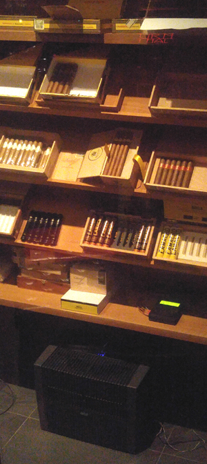 The humidor is under control